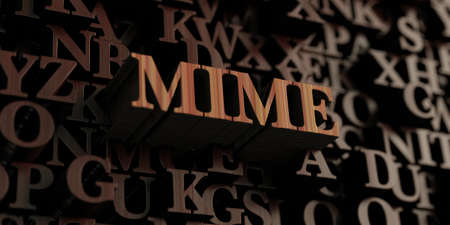 mimo: Mime - Wooden 3D rendered lettersmessage.