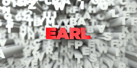 earl: EARL -  Red text on typography background - 3D rendered
