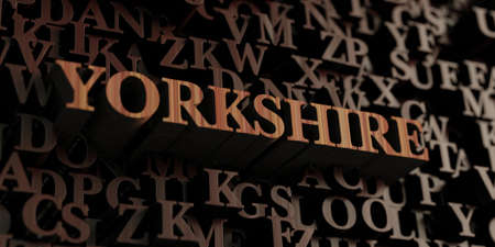 Yorkshire - Wooden 3D rendered lettersmessage.