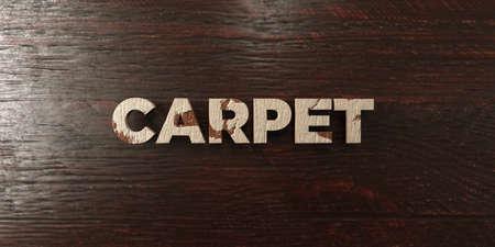 headline: Carpet - grungy wooden headline on Maple  - 3D rendered Stock Photo