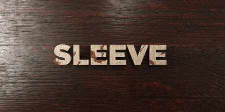 Sleeve - grungy wooden headline on Maple  - 3D rendered