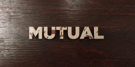 Mutual - grungy wooden headline on Maple  - 3D rendered royalty free stock image. This image can be used for an online website banner ad or a print postcard. Zdjęcie Seryjne