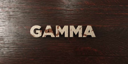 gamma: Gamma - grungy wooden headline on Maple  - 3D rendered royalty free stock image. This image can be used for an online website banner ad or a print postcard. Stock Photo