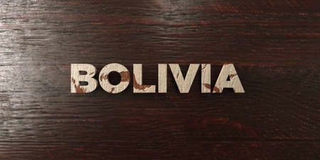 Bolivia - grungy wooden headline on Maple  - 3D rendered royalty free stock image. This image can be used for an online website banner ad or a print postcard.