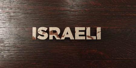 headline: Israeli - grungy wooden headline on Maple  - 3D rendered Stock Photo