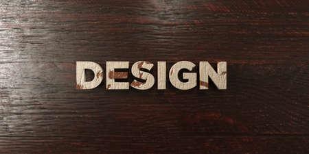 Projektowanie - grungy drewniany nagłówek na Maple - 3D świadczonych za darmo. Ten obraz może być używany do reklamy banerowej online lub pocztowej.