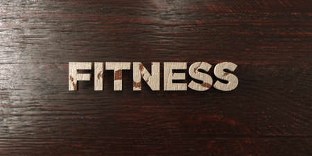 Fitness - grungy wooden headline on Maple  - 3D rendered royalty free stock image. This image can be used for an online website banner ad or a print postcard. Zdjęcie Seryjne
