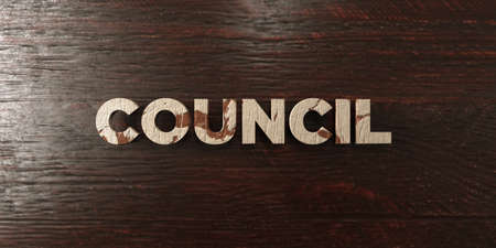 Council - grungy wooden headline on Maple  - 3D rendered royalty free stock image. This image can be used for an online website banner ad or a print postcard.