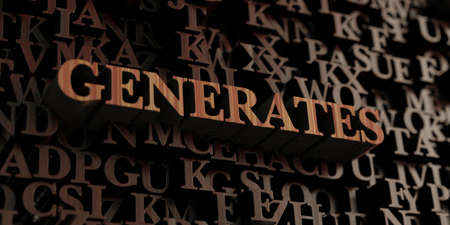 generates: Generates - Wooden 3D rendered lettersmessage.  Can be used for an online banner ad or a print postcard.