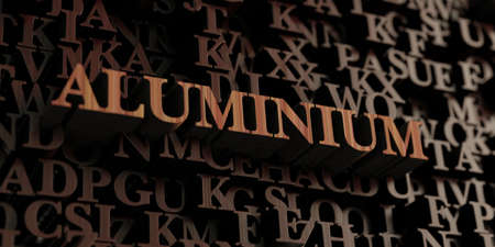 Aluminium - Wooden 3D rendered lettersmessage.  Can be used for an online banner ad or a print postcard. Stock Photo