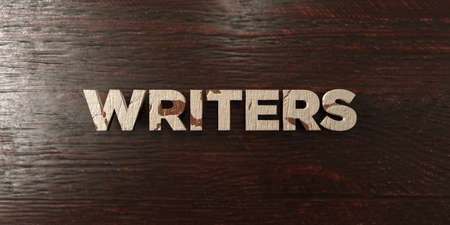 Writers - grungy wooden headline on Maple  - 3D rendered royalty free stock image. This image can be used for an online website banner ad or a print postcard.