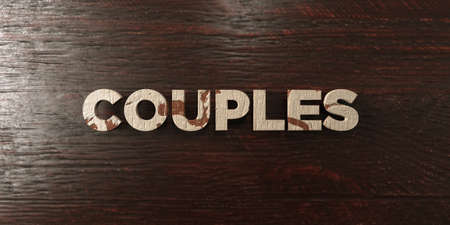 Couples - grungy wooden headline on Maple  - 3D rendered royalty free stock image. This image can be used for an online website banner ad or a print postcard.