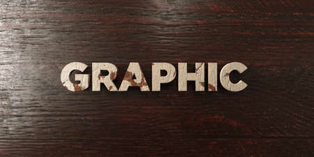 Graphic - grungy wooden headline on Maple  - 3D rendered royalty free stock image. This image can be used for an online website banner ad or a print postcard.