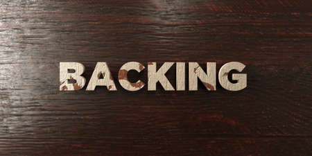 white backing: Backing - grungy wooden headline on Maple  - 3D rendered royalty free stock image. This image can be used for an online website banner ad or a print postcard. Stock Photo