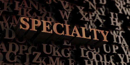 specialty: Specialty - Wooden 3D rendered lettersmessage.  Can be used for an online banner ad or a print postcard.