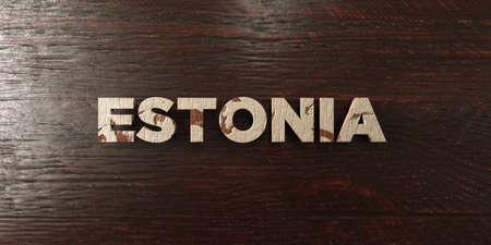 エストニア - メープルの汚れた木製見出し - 3 D レンダリングされたロイヤリティ フリー ストック イメージ。この画像は、オンラインの web サイト
