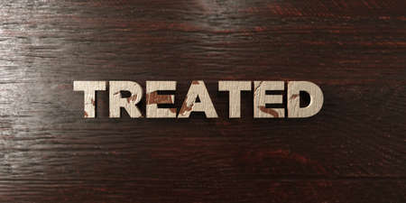 Treated - grungy wooden headline on Maple  - 3D rendered royalty free stock image. This image can be used for an online website banner ad or a print postcard. Imagens