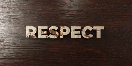 Respect - grungy wooden headline on Maple  - 3D rendered royalty free stock image. This image can be used for an online website banner ad or a print postcard. Stok Fotoğraf