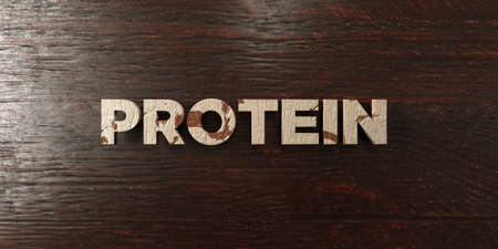 Protein - grungy wooden headline on Maple  - 3D rendered royalty free stock image. This image can be used for an online website banner ad or a print postcard. Zdjęcie Seryjne