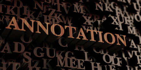 annotation: Annotation - Wooden 3D rendered lettersmessage.  Can be used for an online banner ad or a print postcard.