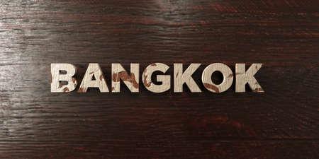 バンコク - メープルの汚れた木製見出し - 3 D レンダリングされたロイヤリティ フリー ストック イメージ。この画像は、オンラインの web サイトのバナー広告や印刷はがきの使用できます。 写真素材 - 72479795