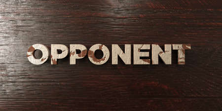 Opponent - grungy wooden headline on Maple  - 3D rendered royalty free stock image. This image can be used for an online website banner ad or a print postcard. Stok Fotoğraf