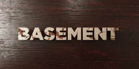 Basement - grungy wooden headline on Maple  - 3D rendered royalty free stock image. This image can be used for an online website banner ad or a print postcard. Zdjęcie Seryjne