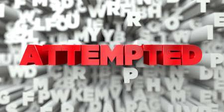 ATTESTÉ - Texte rouge sur l'arrière-plan typographique - Image rendue disponible à l'image en 3D. Cette image peut être utilisée pour une bannière publicitaire en ligne ou une carte postale imprimée.