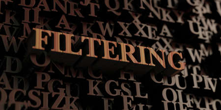 Filtering - Wooden 3D rendered letters/message. Can be used for an online banner ad or a print postcard.