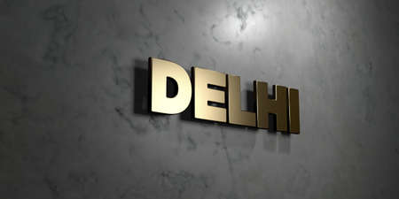 델리 - 골드 기호 광택 대리석 벽 -3D 렌더링 로열티 무료 재고 일러스트 레이 션에 탑재. 이 이미지는 온라인 웹 사이트 배너 광고 또는 인쇄 엽서에 사 스톡 콘텐츠