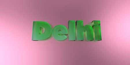 델리 - 활기찬 배경 -3d 렌더링에 다채로운 유리 텍스트 로열티 무료 재고 이미지를 렌더링합니다.