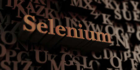Selenium - Wooden 3D rendered lettersmessage.  Can be used for an online banner ad or a print postcard.