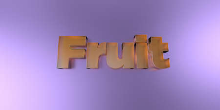 Fruit - colorful glass text on vibrant background - 3D rendered royalty free stock image. Stock Photo