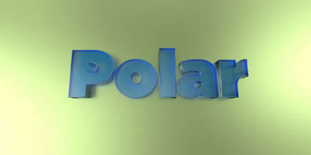 royalty free: Polar - colorful glass text on vibrant background - 3D rendered royalty free stock image.