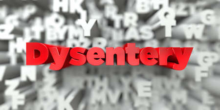 dysentery: Dysentery -  Red text on typography background - 3D rendered royalty free stock image. This image can be used for an online website banner ad or a print postcard.