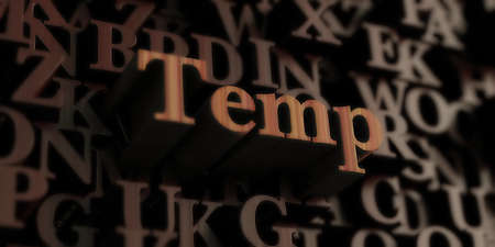 temp: temp - Wooden 3D rendered lettersmessage.  Can be used for an online banner ad or a print postcard.