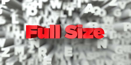 image size: Full Size -  Red text on typography background - 3D rendered royalty free stock image. This image can be used for an online website banner ad or a print postcard.