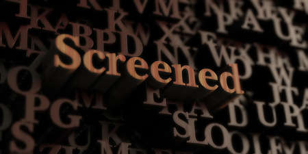 screened: Screened - Wooden 3D rendered lettersmessage.  Can be used for an online banner ad or a print postcard.