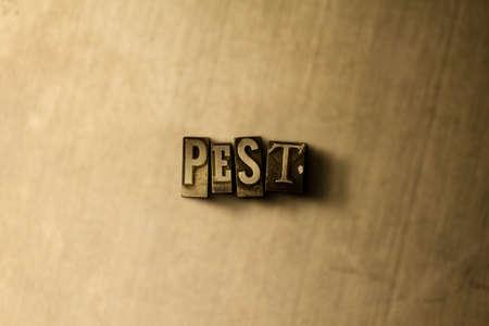 PRAGA - close-up da palavra typeset do vintage sujo no contexto do metal. Ilustração conservada em estoque livre dos direitos Pode ser usado para anúncios de banner on-line e mala direta. Foto de archivo - 72574076
