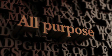 all purpose: All Purpose - Wooden 3D rendered lettersmessage.  Can be used for an online banner ad or a print postcard.