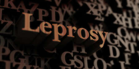 leprosy: Leprosy - Wooden 3D rendered lettersmessage.  Can be used for an online banner ad or a print postcard.