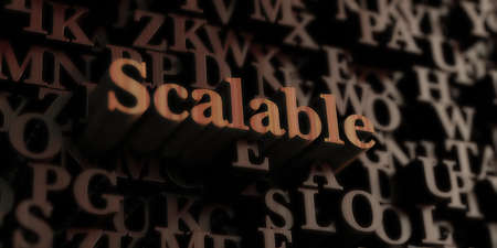 scalable: Scalable - Wooden 3D rendered lettersmessage.  Can be used for an online banner ad or a print postcard.