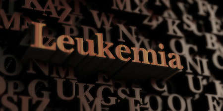 leukemia: Leukemia - Wooden 3D rendered lettersmessage.  Can be used for an online banner ad or a print postcard. Stock Photo