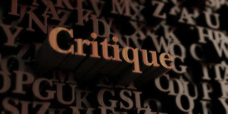 critique: Critique - Wooden 3D rendered lettersmessage.  Can be used for an online banner ad or a print postcard.
