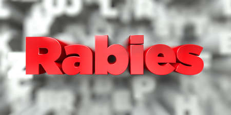 wścieklizna: Rabies -  Red text on typography background - 3D rendered royalty free stock image. This image can be used for an online website banner ad or a print postcard. Zdjęcie Seryjne