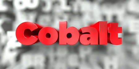 Cobalt -  Red text on typography background - 3D rendered royalty free stock image. This image can be used for an online website banner ad or a print postcard. Stock Photo
