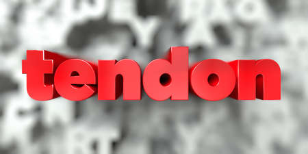 tendon -  Red text on typography background - 3D rendered royalty free stock image. This image can be used for an online website banner ad or a print postcard. Zdjęcie Seryjne