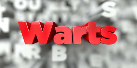 Warts -  Red text on typography background - 3D rendered royalty free stock image. This image can be used for an online website banner ad or a print postcard.