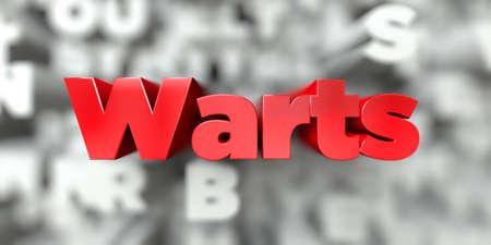Wratten - Rode tekst op typografieachtergrond - 3D teruggegeven royalty vrij voorraadbeeld. Deze afbeelding kan worden gebruikt voor een online banneradvertentie of een prentkaart.