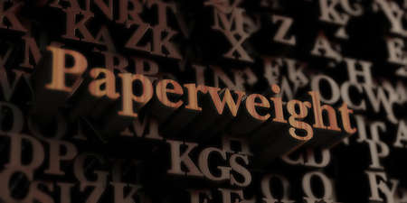 paperweight - Wooden 3D rendered lettersmessage.  Can be used for an online banner ad or a print postcard.